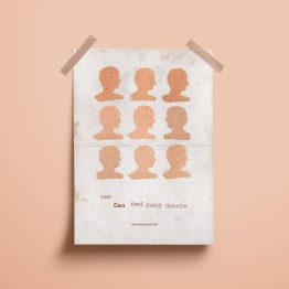One Can Feed Many Mouths Poster Mock Up