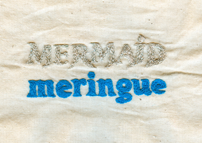 Typographic Embroidery: Mermaid Meringue | Spike Dennis 2012