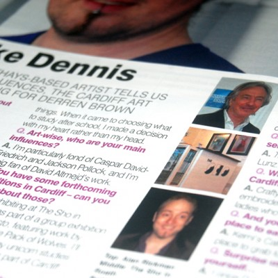 Cardiff Life Magazine | August 2012 featuring Spike Dennis