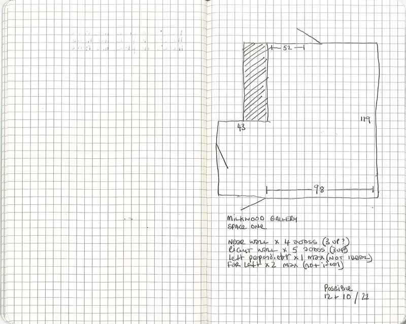 Exhibition Planning Sketchbook | Spike Dennis 2013