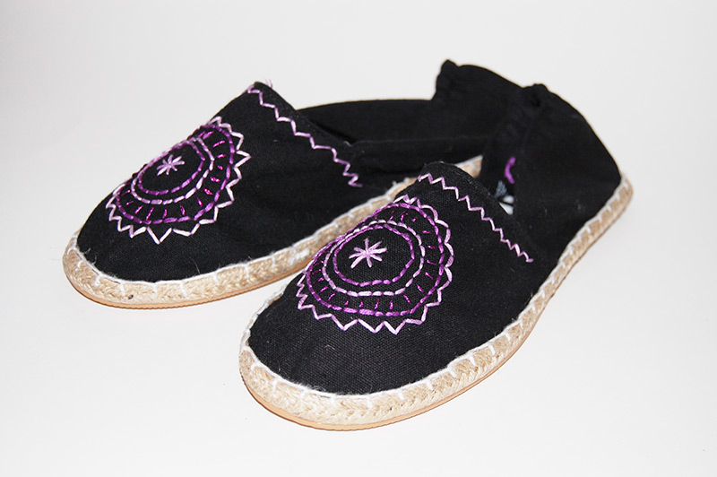 Embroidered Espadrilles | Contemporary Crafts