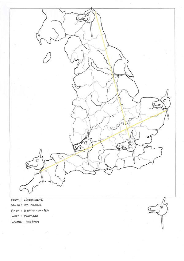 England's Unicorn Sketch