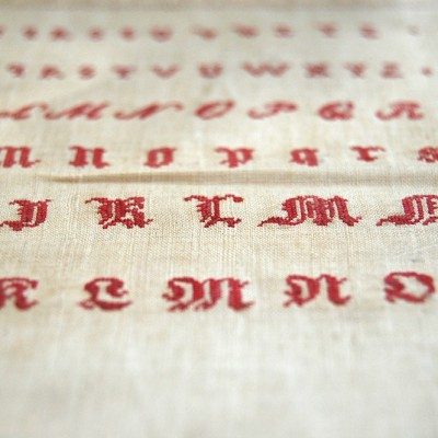 Embroidered Welsh Samplers | St Fagans Museum Wales