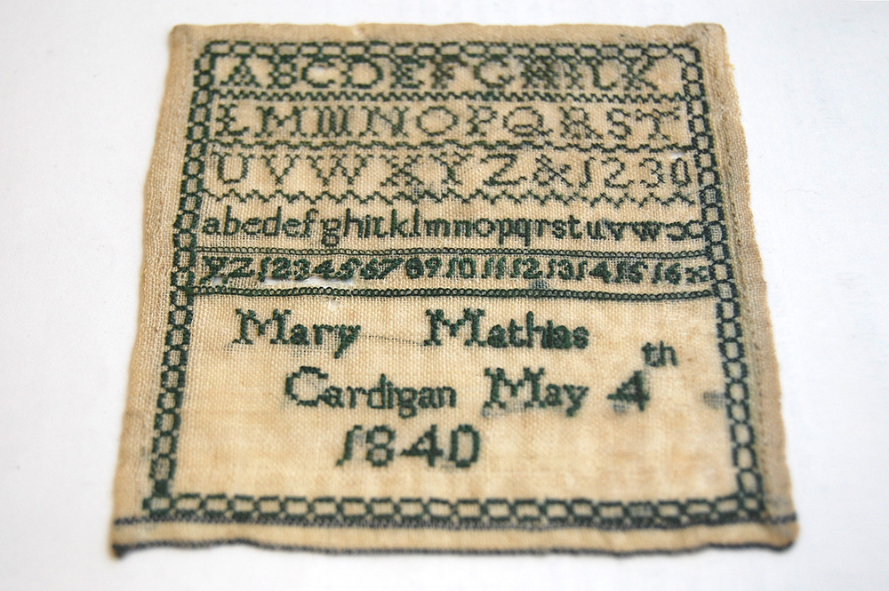 Welsh Embroidered Sampler | St Fagans Museum Wales