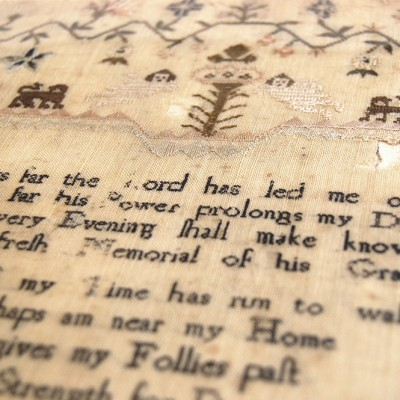 Embroidered Welsh Samplers - SampleriCymreig | St Fagans Museum Wales
