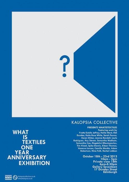 Kalopsia Collective - What Is Textiles? exhibition edinburgh