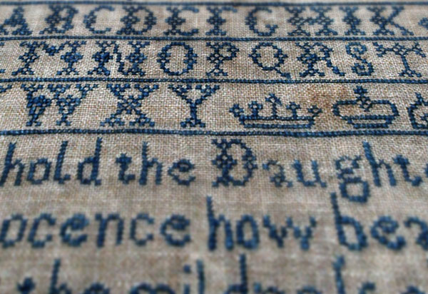 Free Old English Alphabet Cross Stitch Pattern
