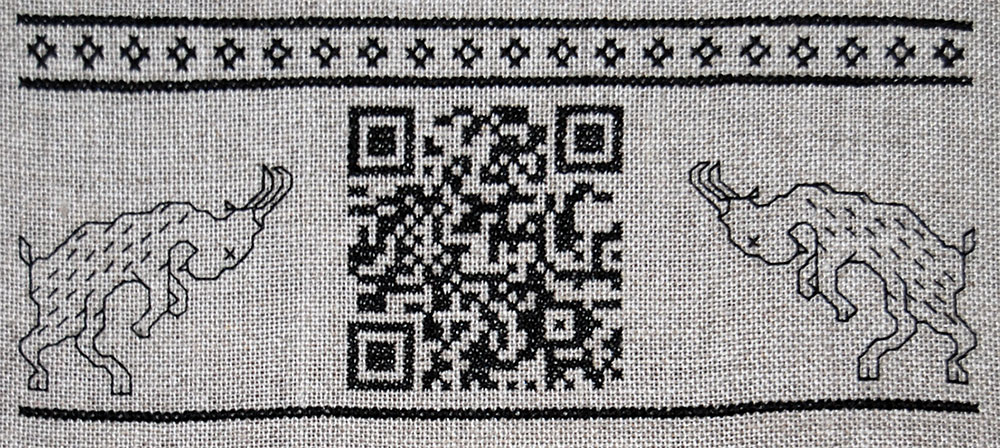 Cross Stitch QR Code Embroidery
