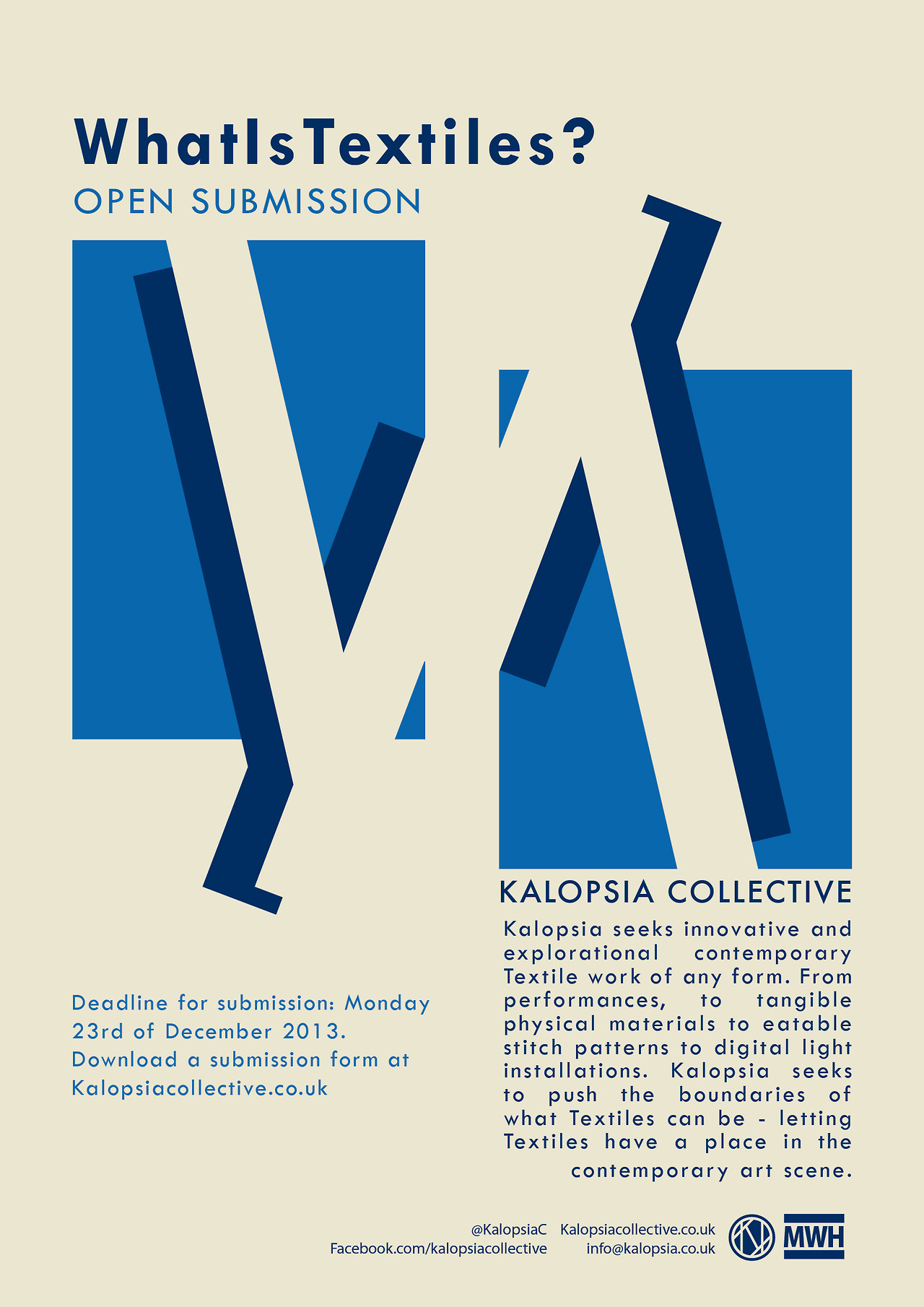 Kalopsia Collective - What is Textiles? Open Call
