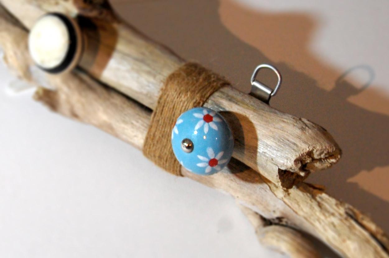 Handmade vintage Driftwood Jewellery Necklace Rack