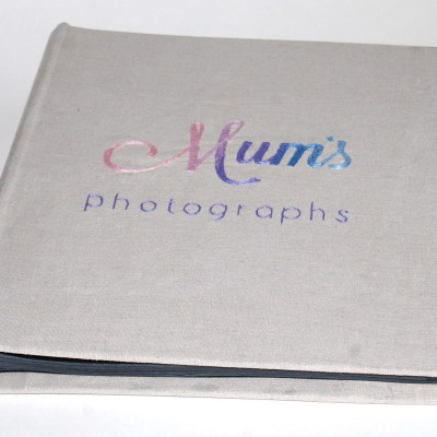 Hand Embroidered Photo Album Book Cover