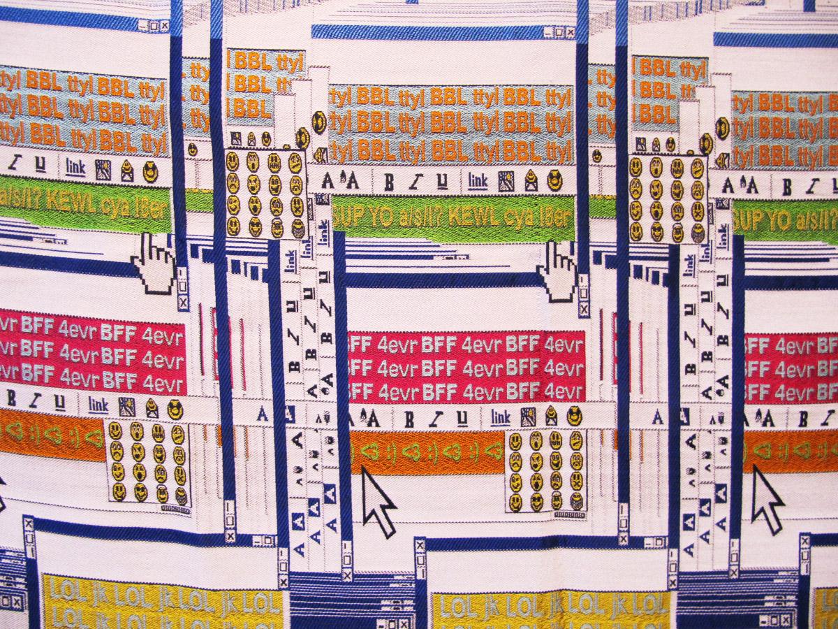 Kayla Matte - Woven AIM Chats Textile Art