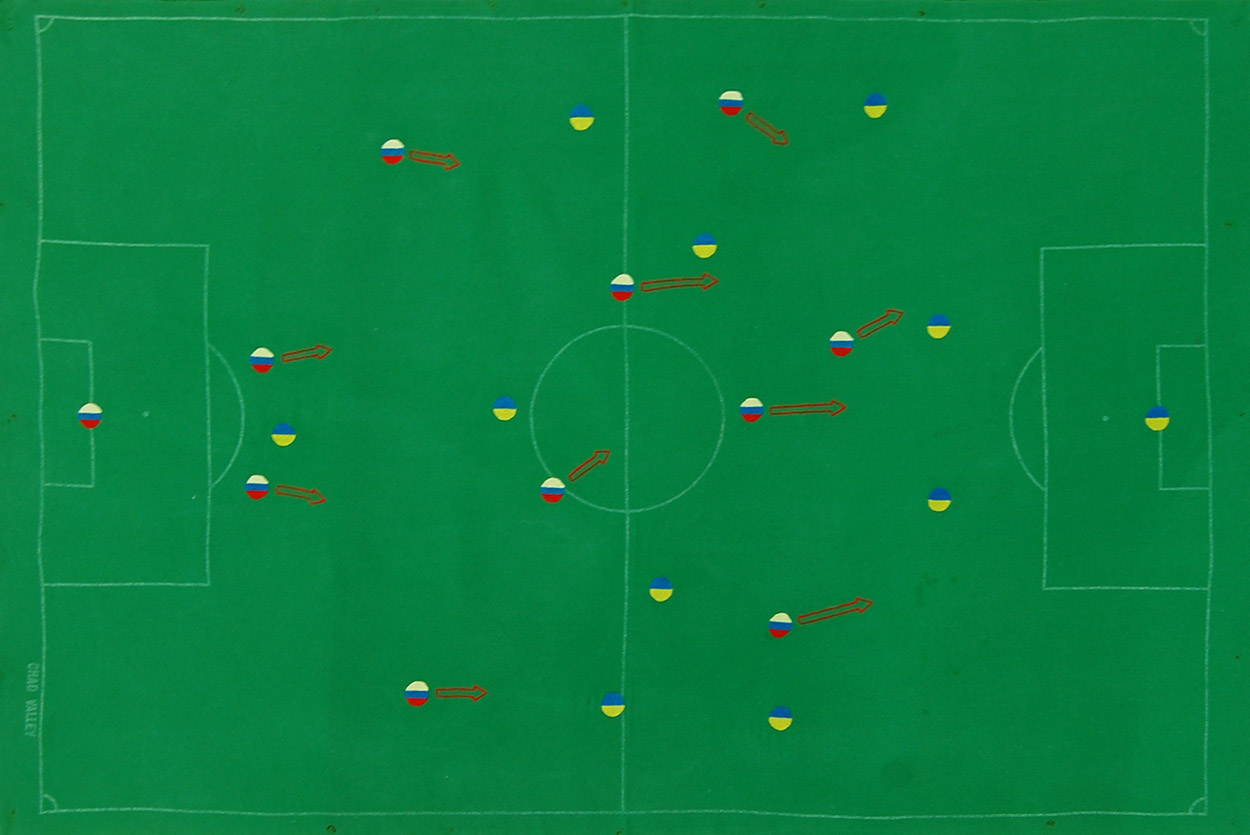 The Crimea Cup 2014 |Embroidered Subbuteo Cloth by Spike Dennis