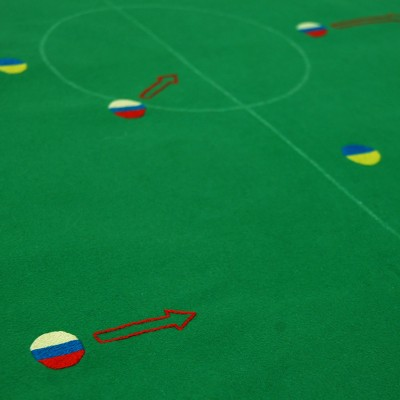 The Crimea Cup '14 - Embroidered Subbuteo Cloth by Spike Dennis