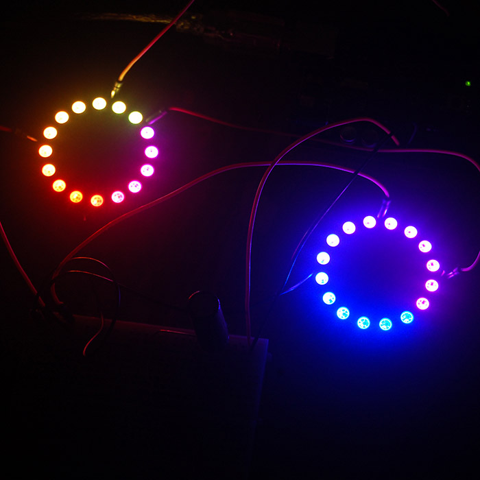 Adafruit Neopixel Rings 16 LED Lights