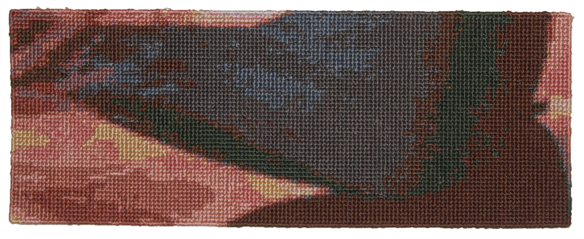 Contemporary Cross Stitch Hand and  Embroidery by Spike Dennis