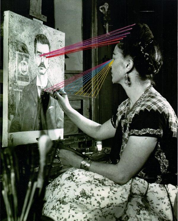 Mana Morimoto embroidered photographs