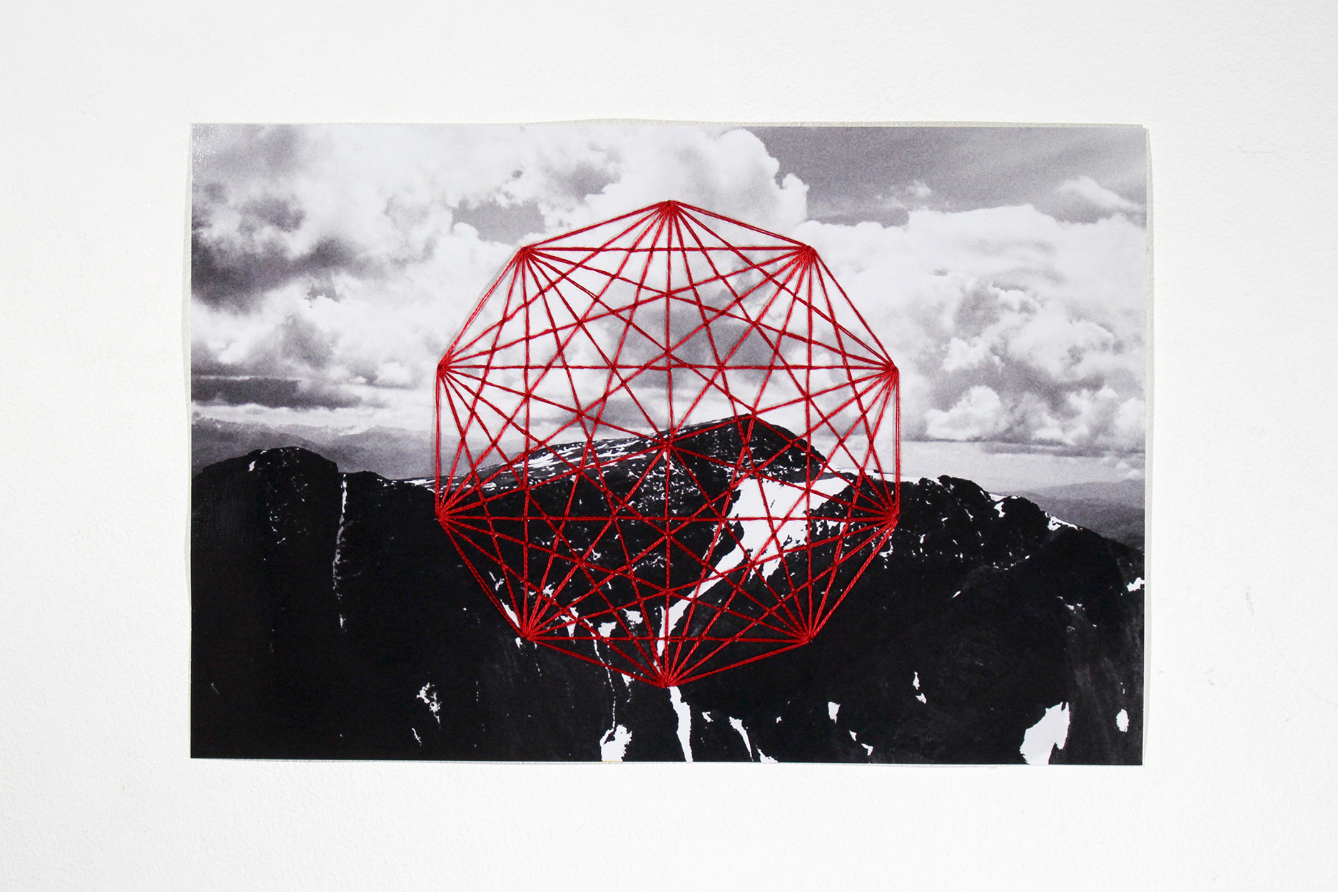 Hand Embroidered Black & White Photographs (Sgorr Ruadh)