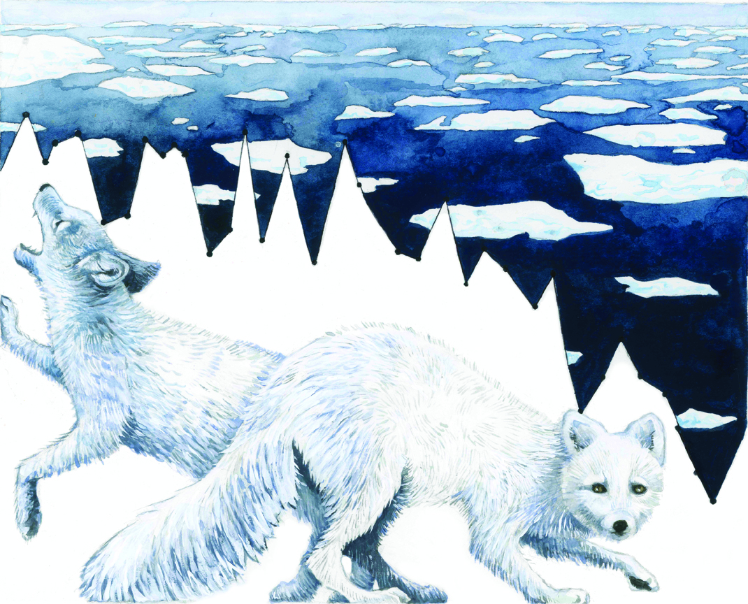 Climate Change Painting by Jill pelto