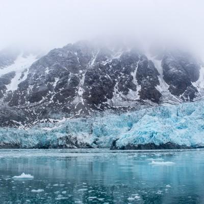 Svidjotbreen Glacier in Svalbard
