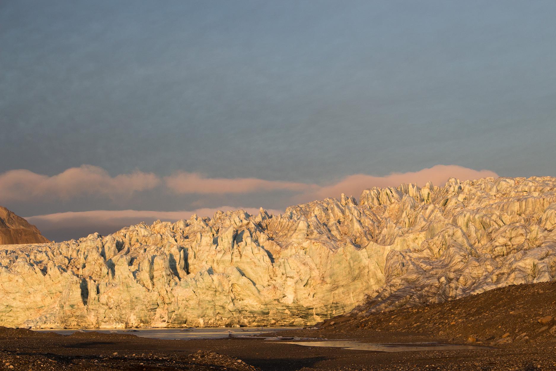 Esmarkbreen Glacier on Svalbard