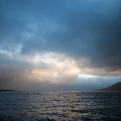 Out at sea in the high arctic near Svalbard