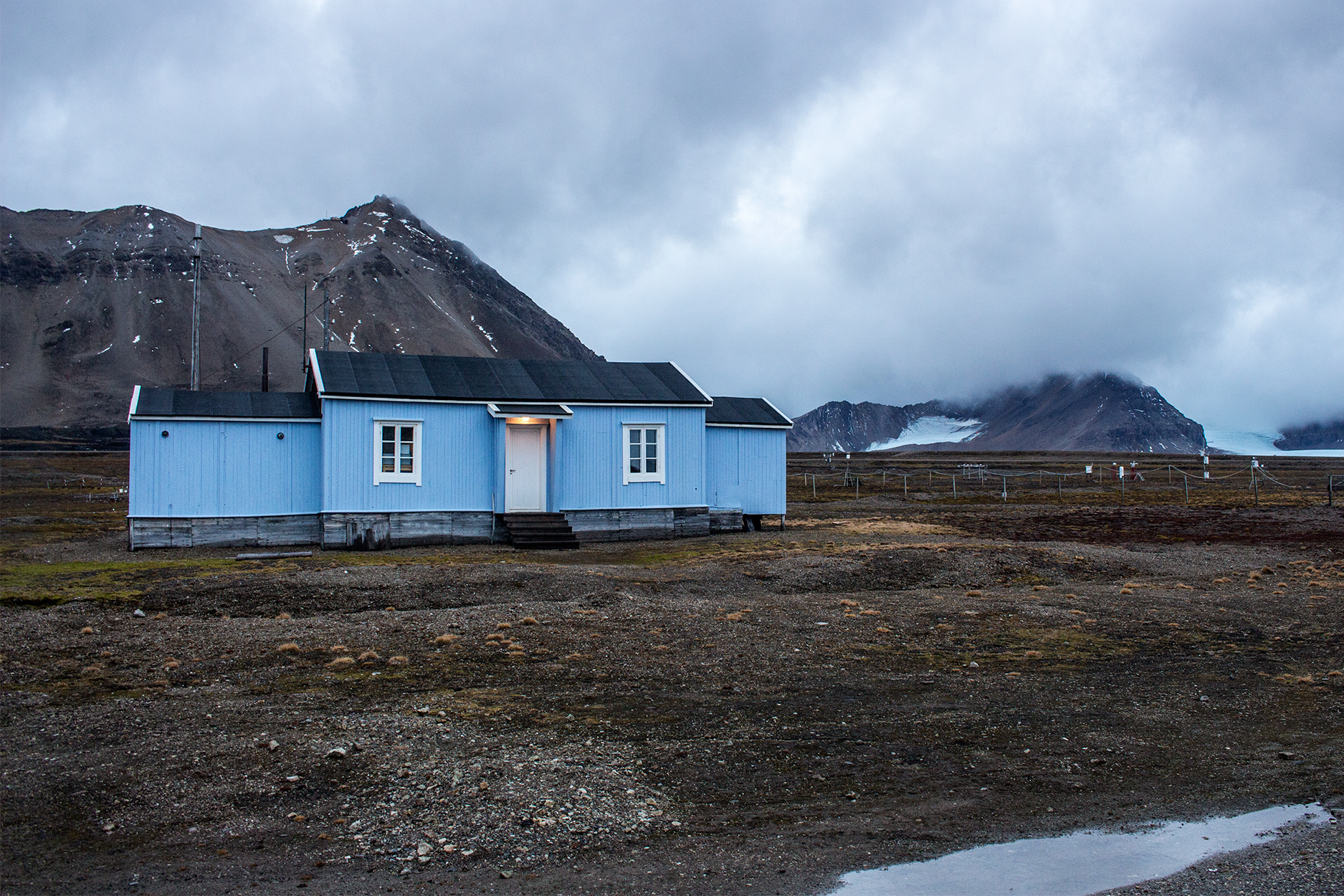 Ny Ålesund settlement on Svalbard