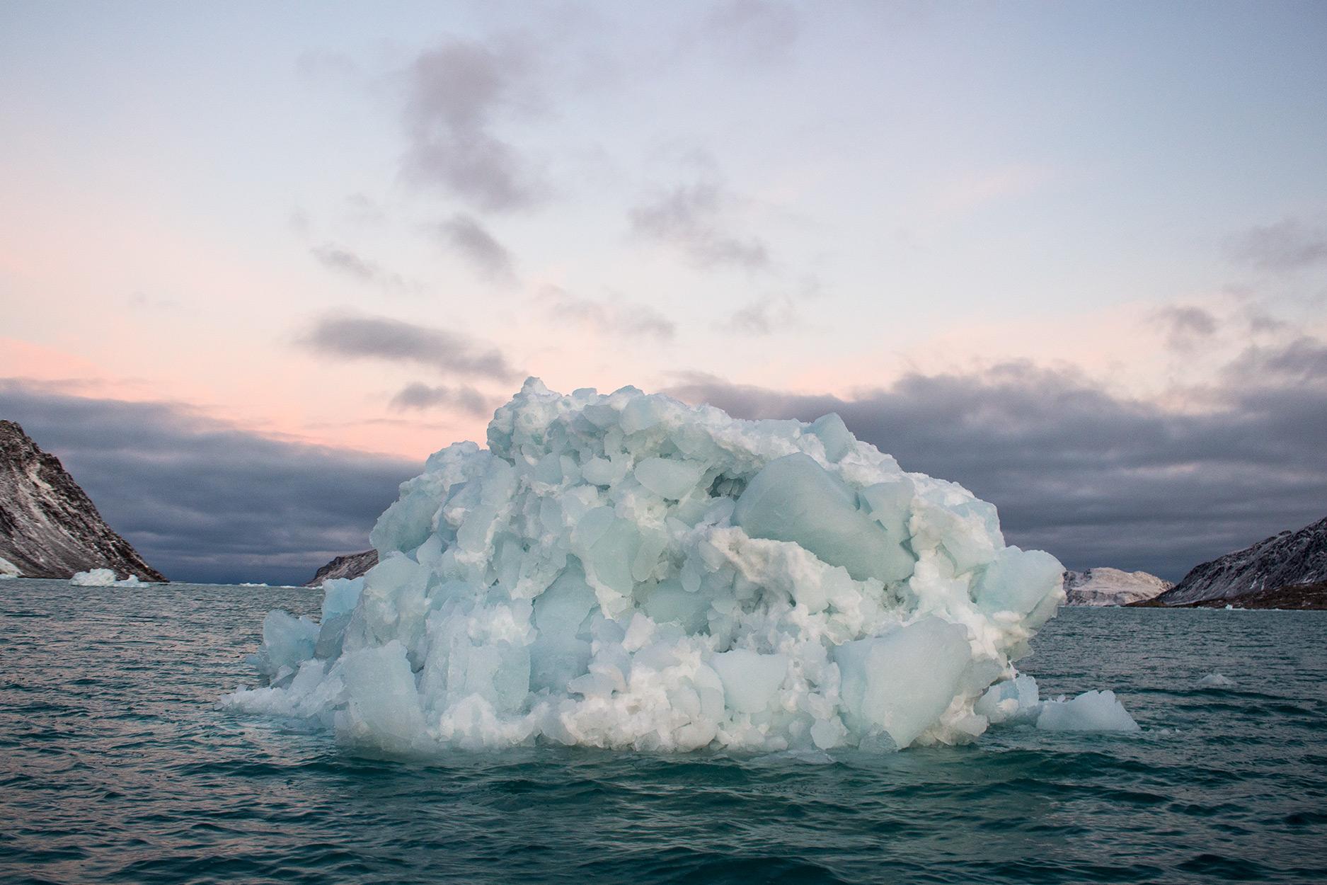 Iceberg in Fuglefjorden, Svalbard