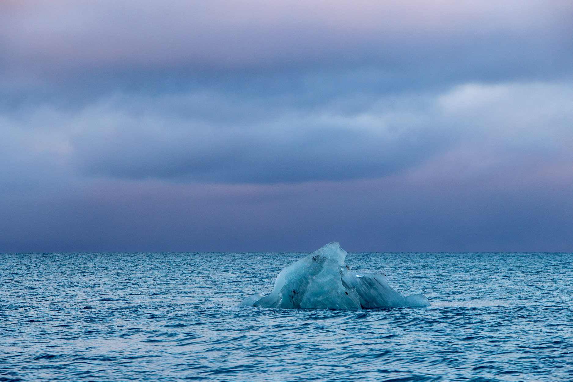 An iceberg at sea as we sailed away from Fuglefjorden.