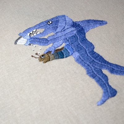 Consequences embroidery by Spike Dennis