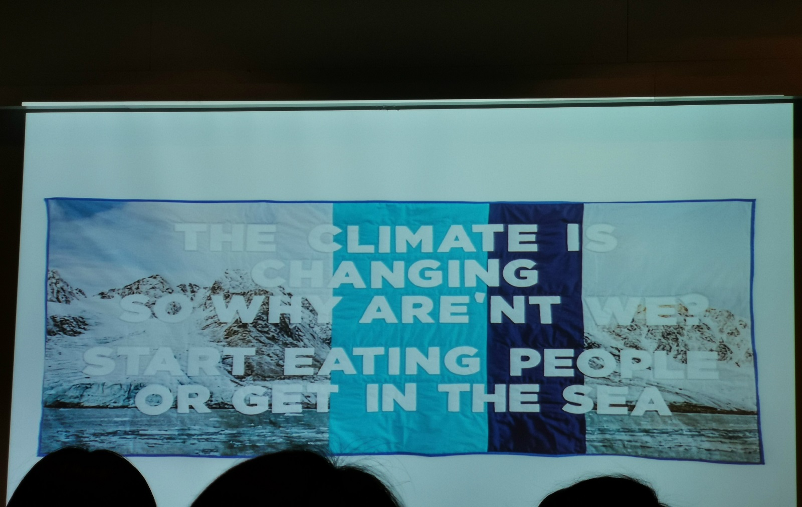 Connecting the North and South Poles, Global Warming Observation at How Art Museum in Shanghai, China