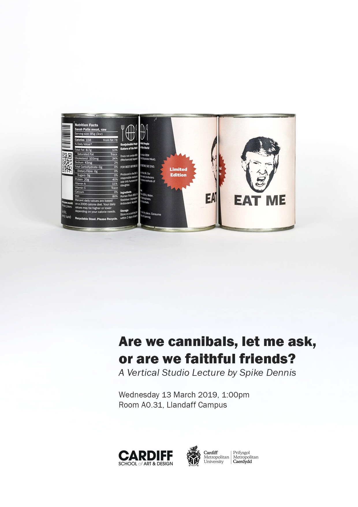 Vertical Studio Poster - Cannibalism, Climate Change, and Contemporary Art
